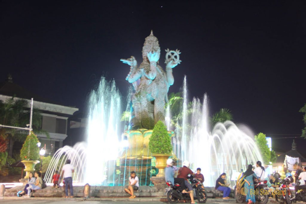 denpasar, bali, city, town, denpasar city, capital city, bali capital city, night, places to visit
