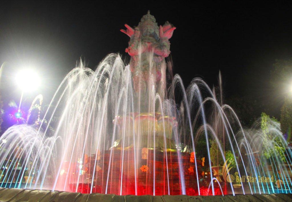 denpasar, bali, city, town, denpasar city, capital city, bali capital city, water fountain