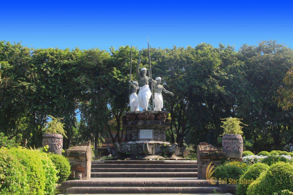 denpasar, bali, city, town, denpasar city, capital city, bali capital city, puputan badung, courtyard