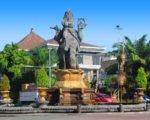 denpasar, bali, city, town, denpasar city, capital city, bali capital city, four face statue