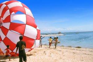 parasailing take off, bali parasailing, bali water sport, bali water sport packages, bali marine activities