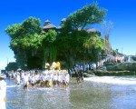 tanah lot, bali, temple, rock, sea, tanah lot bali, tanah lot temple, bali temple on rock, places, ceremony, places of interest