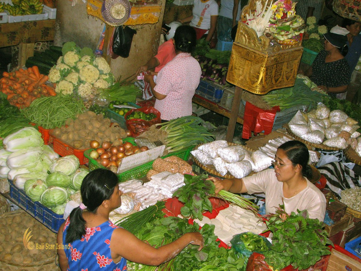 vegetable, stall, badung, traditional, market, denpasar, city, traditional market, badung traditional market, denpasar market