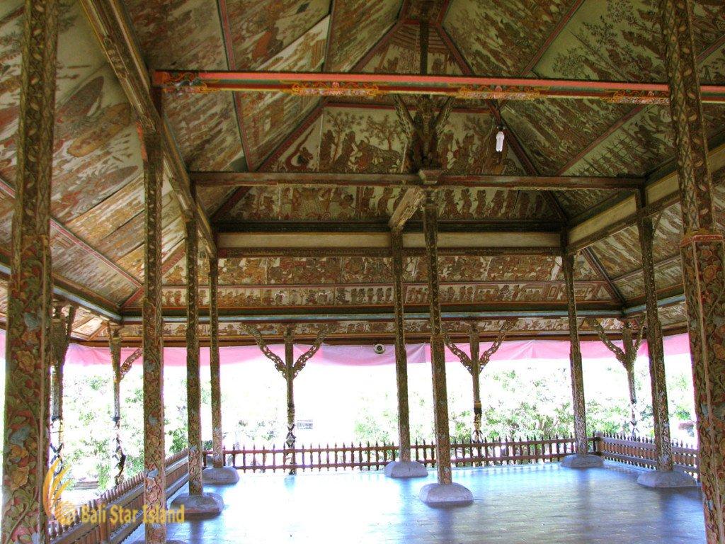 kerta gosa, klungkung, bali, klungkung bali, royal, court, bali royal court, places, places of interest, balinese, puppet, ceiling