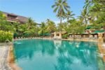 frangipani pool, legian beach pool, legian beach resort