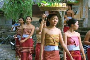 girls, tenganan girls, tenganan village, east bali, tourist destinations