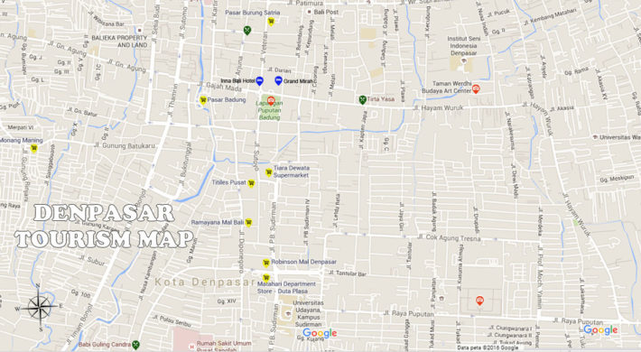Denpasar Map | Bali Travel Guides