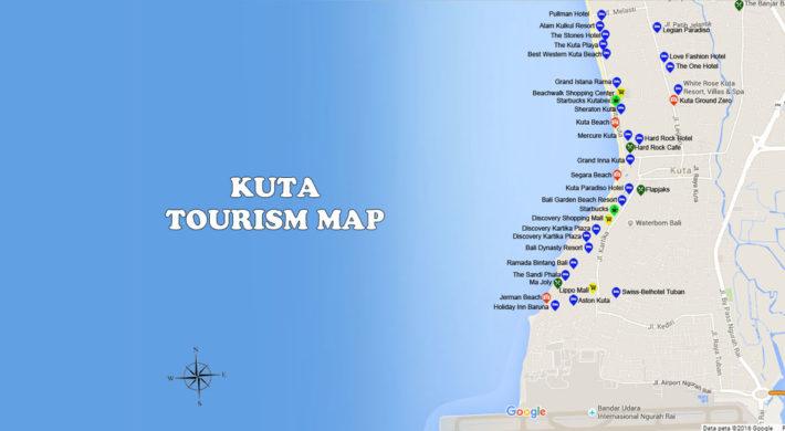 Kuta Map Kuta Tourist Spots Bali Travel Guides Bali