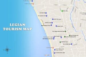 legian denpasar map