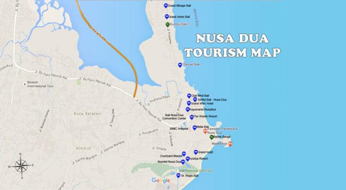 Nusa Dua Map – Bali Tourism Map