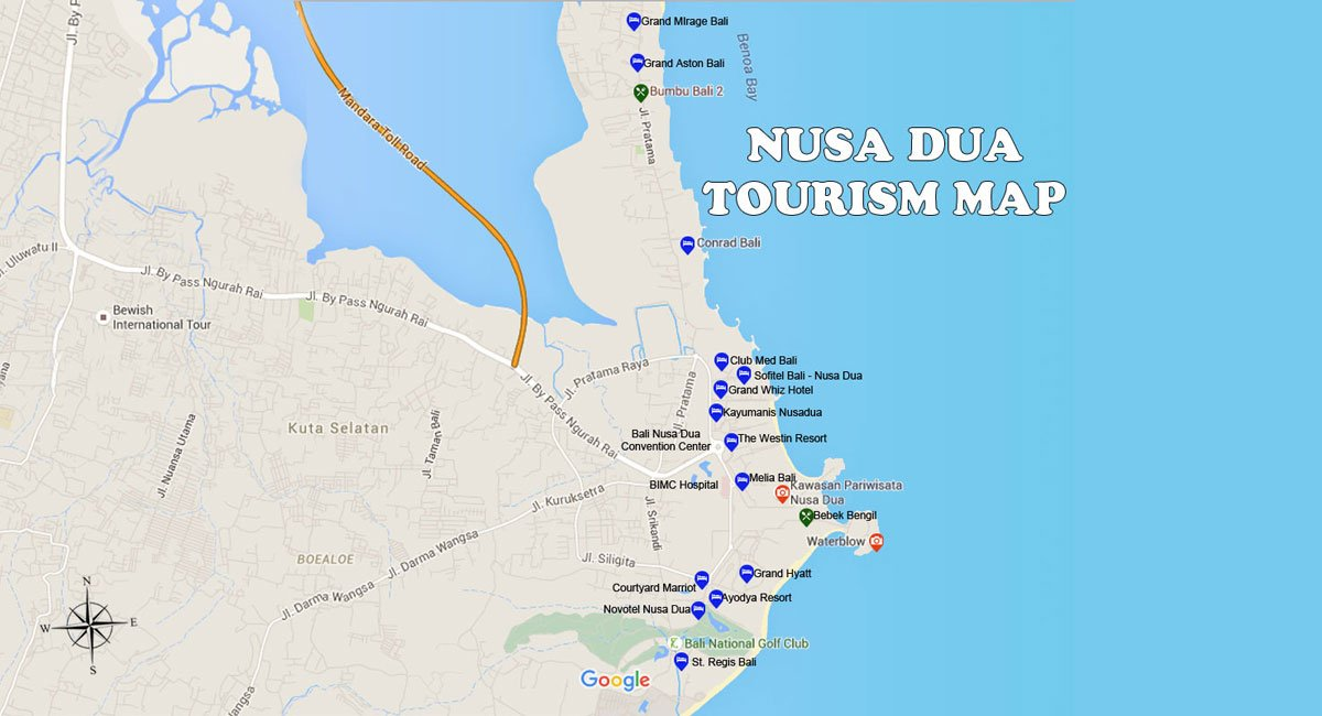 Nusa Dua Map – Bali Tourism Map