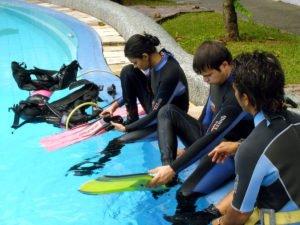 bali, diving, dive, course, bali diving, bali dive, bali diving course, PADI dive, padi dive course, pool training, swimming pool