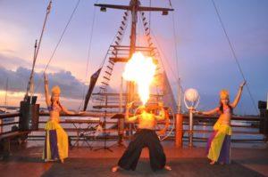 bali, pirate, sunset, cruise, dinner, bali pirate cruise, pirate dinner cruise, fire dance