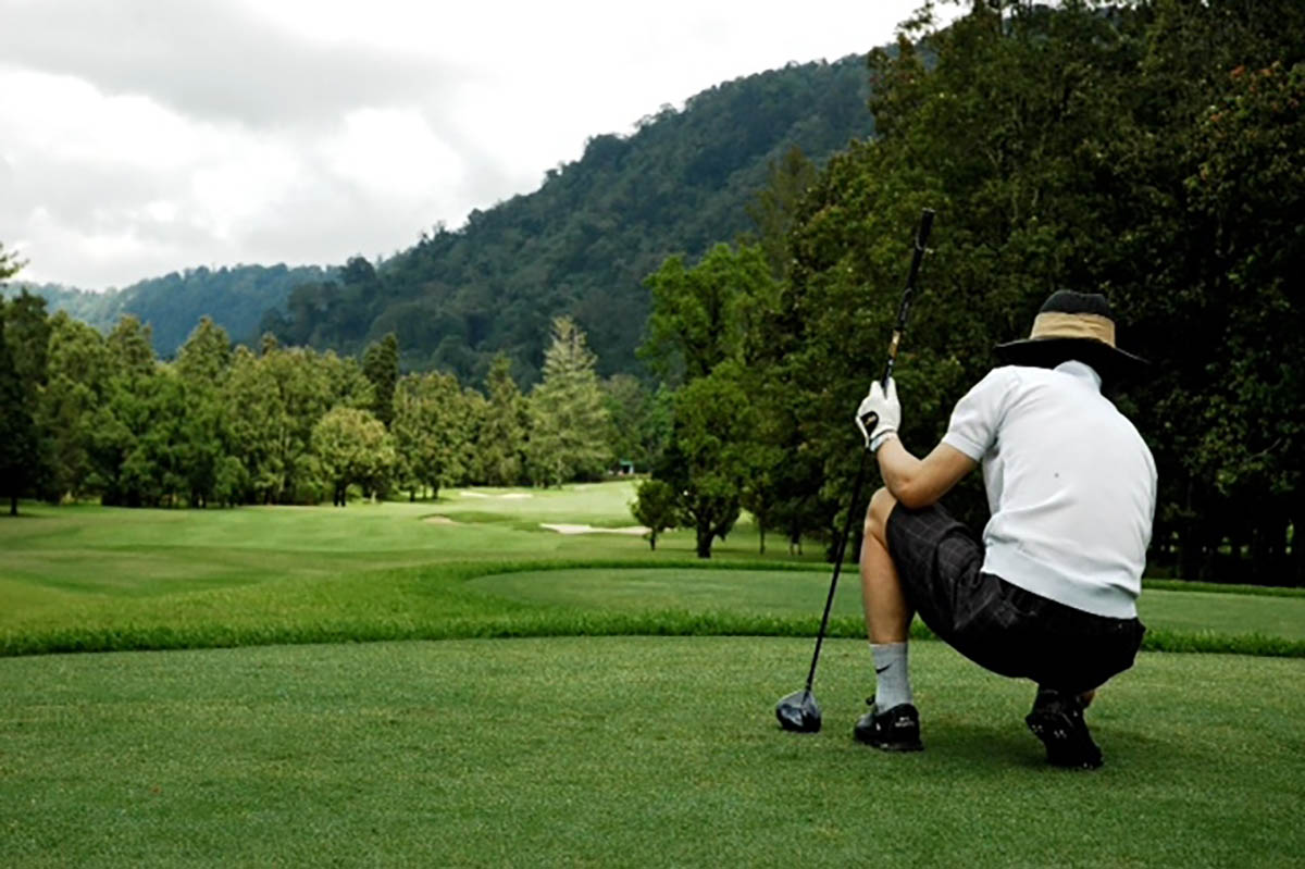 tee box hole 6, handara, bali, golf, resort, bedugul, golf courses, handara golf, handara golf resort, golf resort bali, bedugul golf, bedugul golf course