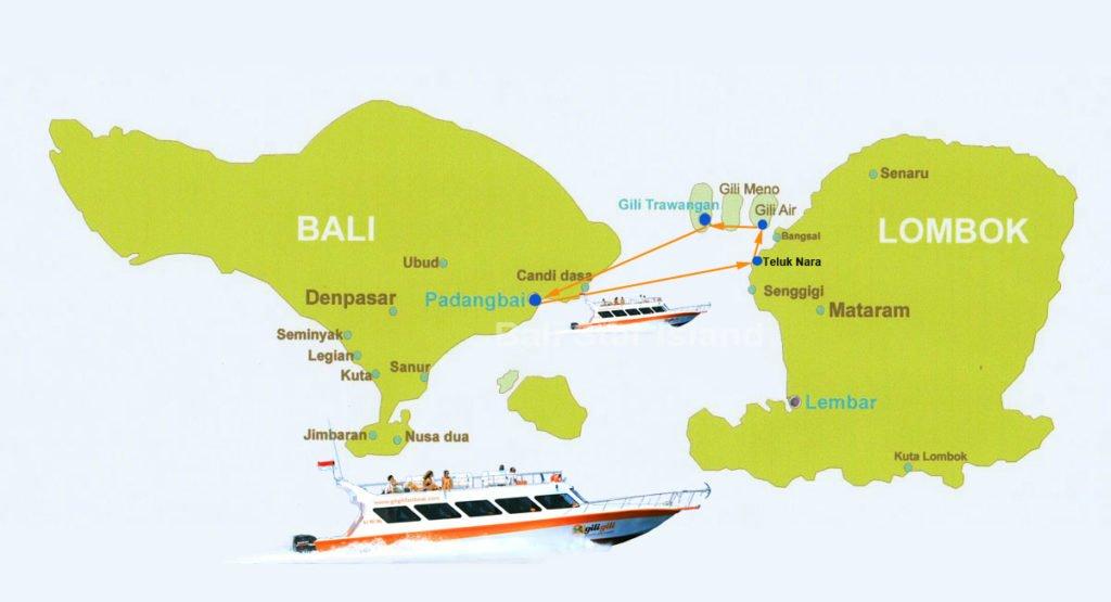 route map, gii gili map, boat transfers, gili gili, boats, bali, gili island, lombok, island, transports, gili gili, gili gili fast boat, lombok boat transports