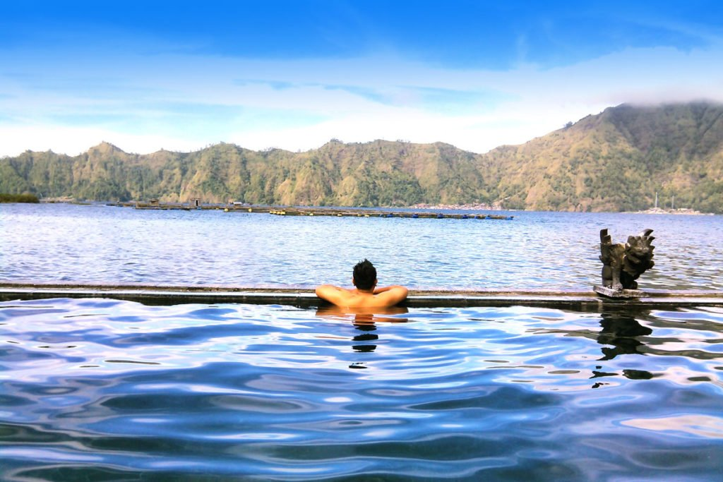 batur, kintamani, hot spring pool
