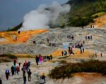 volcano crater, dieng, plateau, central java, volcano, volcanic, complex, dieng plateau, dieng colorful lake, dieng hindu temples, dieng crater