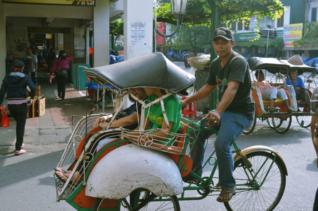 becak, trishaw, transports