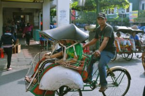 becak, trishaw, transports, yogyakarta, java, java island, yogyakarta city, yogyakarta tourism
