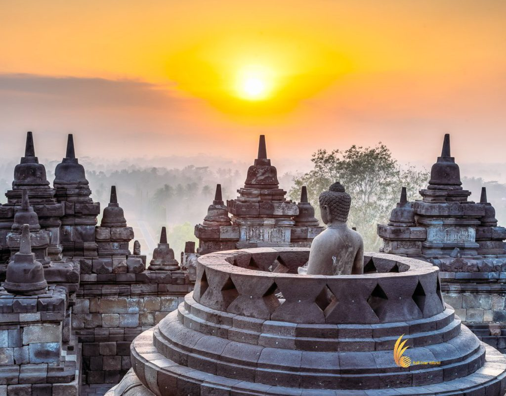 sunrise, borobudur sunrise, borobudur, java, indonesia, Buddha, buddhist, temples, borobudur temple, buddhist temples, central java, indonesia buddhist temples