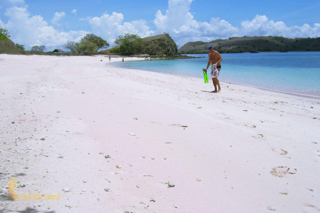 pink sand, pink beach, komodo, pink beach komodo, komodo national park