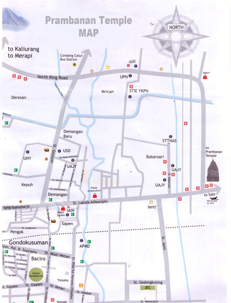 prambanan map, yogyakarta, travel guides, yogyakarta travel guides, tourism maps
