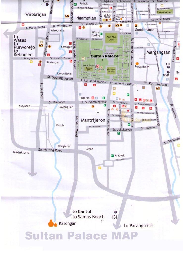 Sultan Palace Yogyakarta, Sultan Palace Yogyakarta map, yogyakarta tourism, travel guides