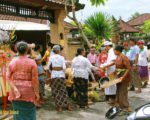 surrounding, offerings, balinese, bali, three months, ceremony, bali three month baby, balinese three month baby ceremony