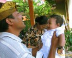 grandfather, grandchild, balinese, bali, three months, ceremony, bali three month baby, balinese three month baby ceremony