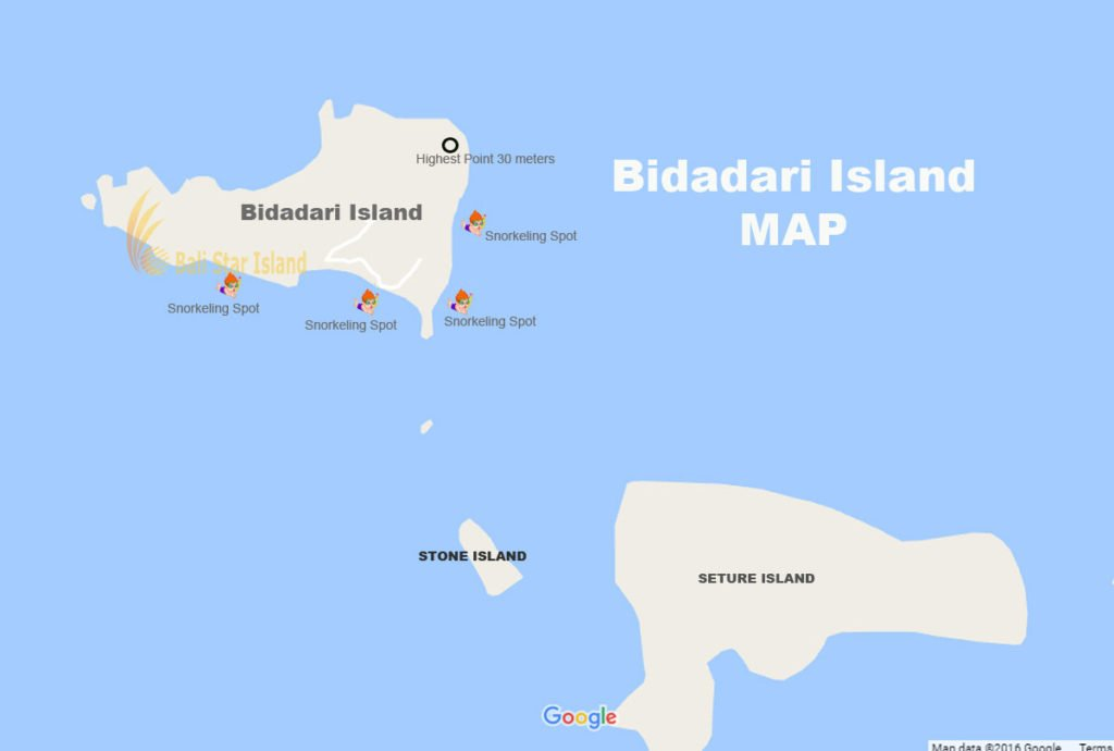 Bidadari Island, Bidadari Island map, komodo national park, tourism maps
