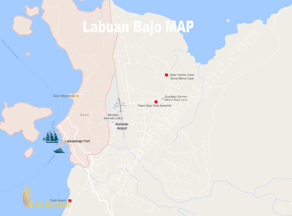 Labuan Bajo, Labuan Bajo map, komodo national park, komodo national park tourism maps