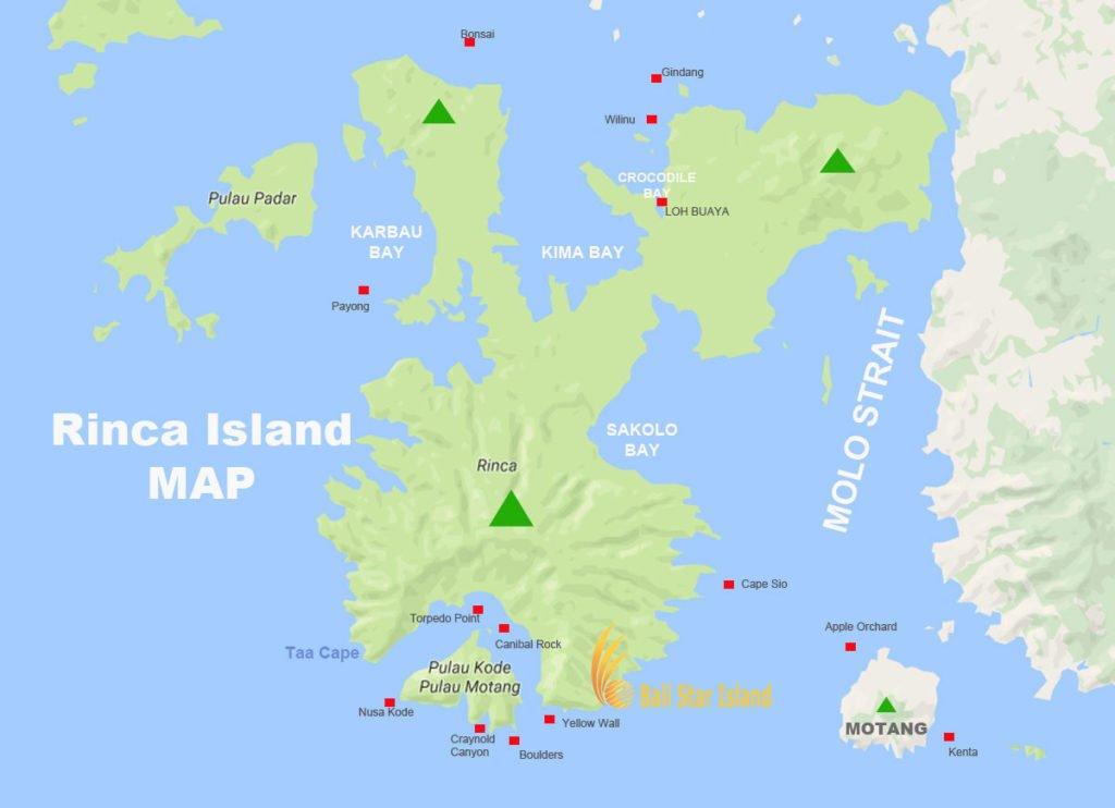 rinca island, rinca island map, komodo national park, tourism maps, komodo national park tourism maps