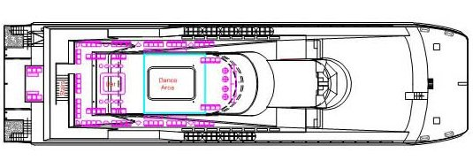 bounty cruise ship, bounty cruise ship top layout, bounty cruise boat specification