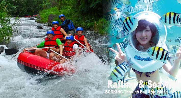 Bali Rafting Seawalker Package – Best Two Water Adventures
