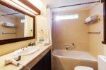 deluxe room, deluxe bathroom, risata bali, risata bali resort
