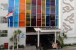 colorful hotel building, colorful best western kuta