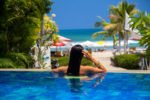 pool beach view, camakila pool, camakila, camakila legian, camakila hotel