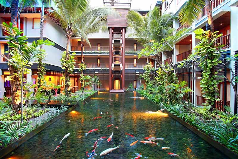 fish pond, fish pond mercure kuta, mercure kuta, mercure kuta hotel