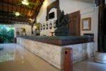 reception counter, legian paradiso. legian paradiso reception