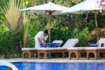 matahari beach resort bali, bali hotel, pemuteran hotel, matahari beach resort pool sundeck