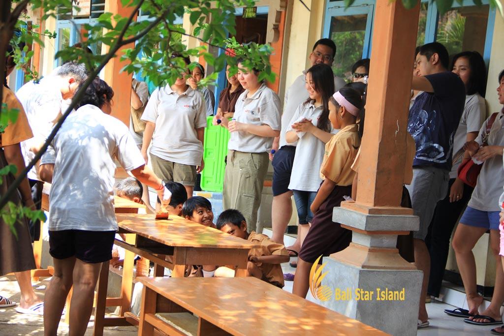 table school, school painting, school painting project, bali csr, bali csr service, corporate social responsibility