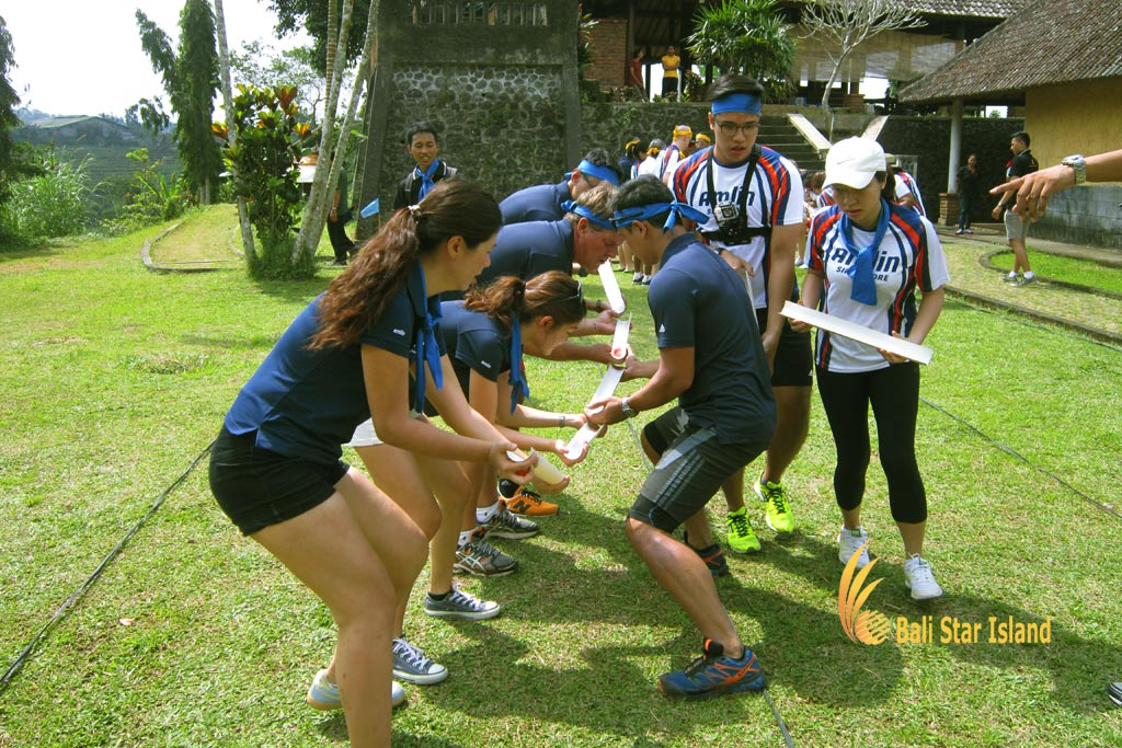 crazy ball, crazy ball games, garden team building, bali garden team building, fun games