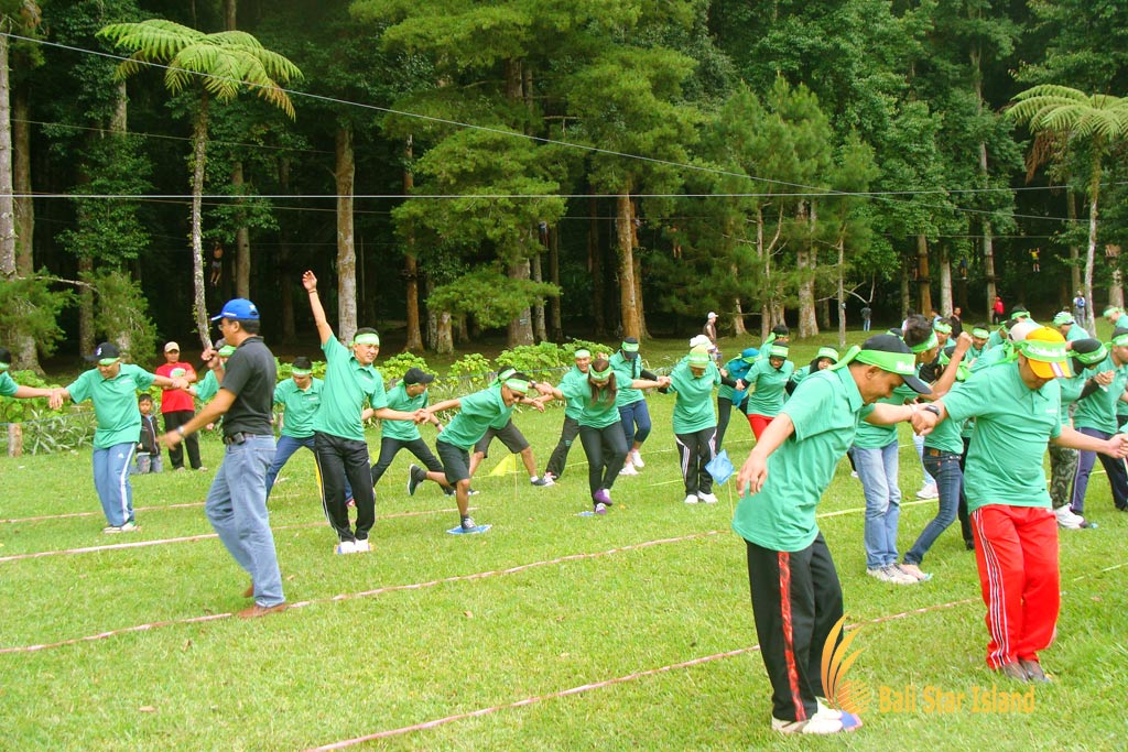 stepping mat game, garden team building, bali garden team building