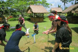 toxic waste, toxic waste game, garden team building, bali garden team building