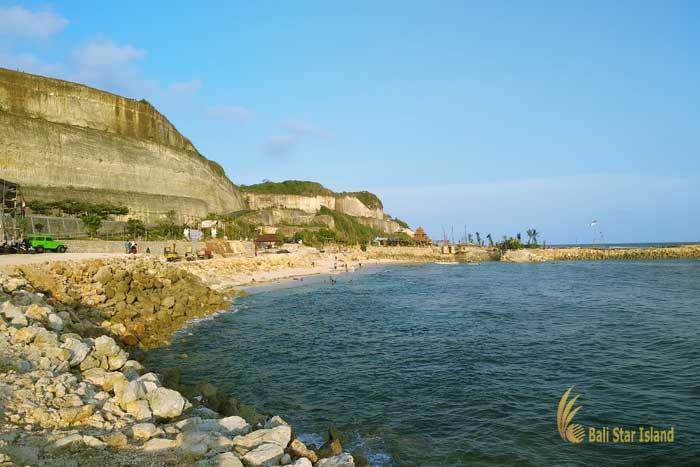white stone hill, melasti, melasti beach