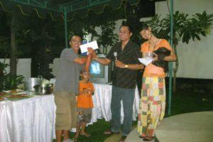 appreciation night party, bali star island, staff, employees