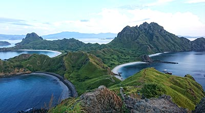 komodo national park flores at Padar