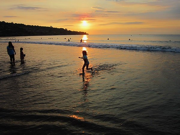 sunset at Jimbaran beach Bali