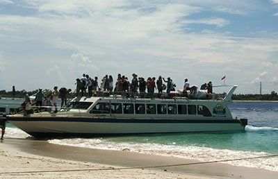speedboat to Gili island