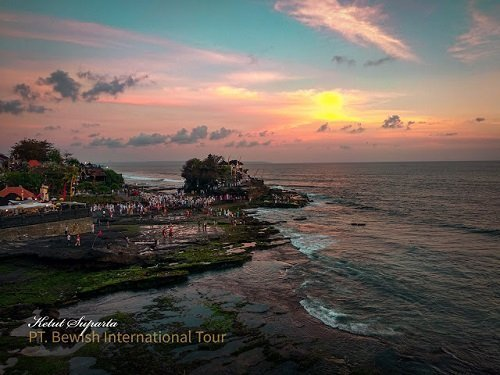 tanahlot bali, bali temple, sunset view